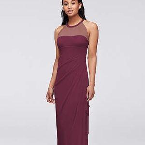 Davids Bridal Wine Color Dress
